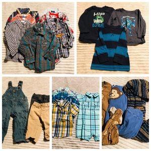 5 LB Bundle 12 Month Baby Boy Spring Clothes LOT